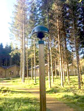 Mushroom LED light post